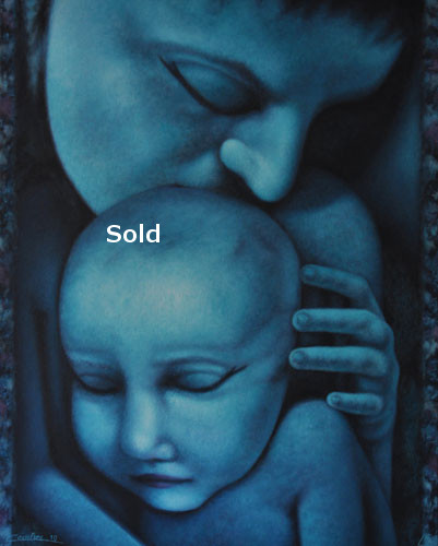 antoine-cavalier-oil-painting-on-canvas-alienism-personal-03-24x30-inches-tenderness-painting-sold