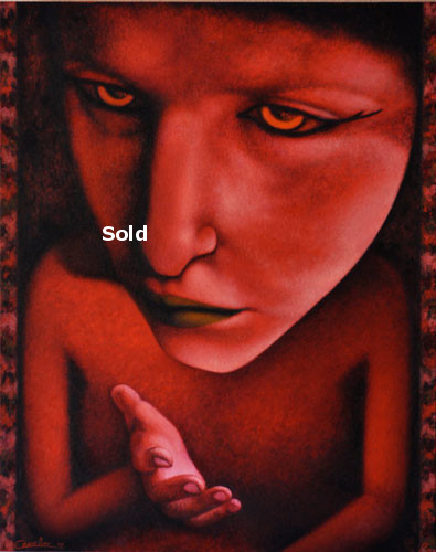 antoine-cavalier-oil-painting-on-canvas-alienism-personal-07-24x30-inches-let-it-go-painting-sold