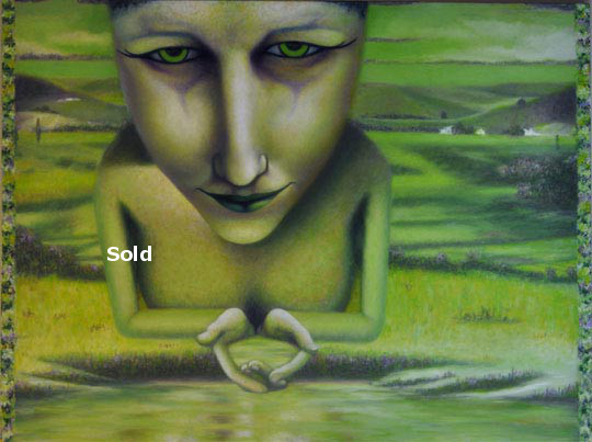antoine-cavalier-oil-painting-on-canvas-alienism-personal-12-50x40-inches-meditation-painting-sold
