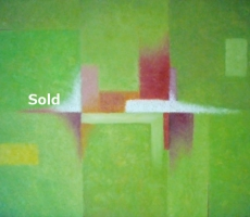 antoine-cavalier-oil-painting-on-canvas-abstract-23-30x24-inches-hawaii-trip-vert-painting-sold