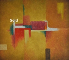 antoine-cavalier-oil-painting-on-canvas-abstract-25-30x24-inches-hawaii-trip-orange-painting-sold