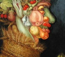 Antoine Cavalier – Hyperrealist oil portrait on canvas 5 -  36x28 inches - Commission -Reproduction Arcimboldo