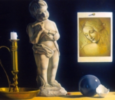 Antoine Cavalier – Hyperrealist painting on canvas 10 - 20x16 inches - Hope for the world - Painting sold