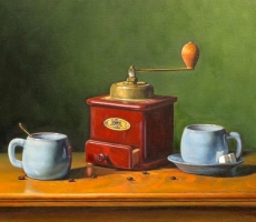 Antoine Cavalier – Hyperrealist painting on canvas 4 - 20x16 inches - Share instant - Private collection