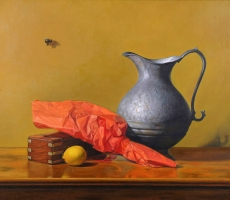 Antoine Cavalier – Hyperrealist painting on canvas 5 - 20x16 inches  -  Private collection