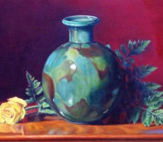 Antoine Cavalier – Hyperrealist painting on canvas 7 - 20x16 inches - Painting sold