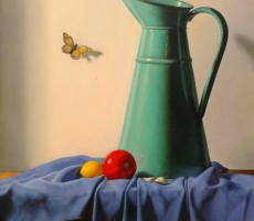 Antoine Cavalier – Hyperrealist painting on canvas 8 - 16x20 inches - Painting sold
