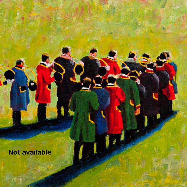 antoine-cavalier-oil-painting-on-paper-02-8x8-inches-horn-ringer-les-echos-des-provinces-not-available