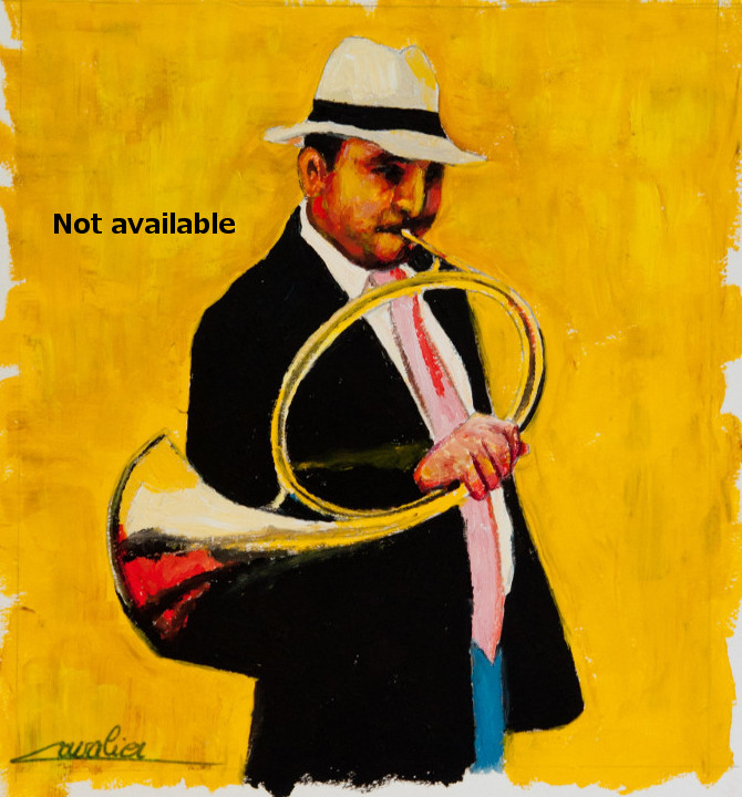 antoine-cavalier-oil-painting-on-paper-04-8x8-inches-horn-ringer-les-echos-des-provinces-not-available