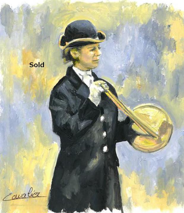 antoine-cavalier-oil-painting-on-paper-16-8x8-inches-horn-ringer-les-echos-des-provinces-private-collection